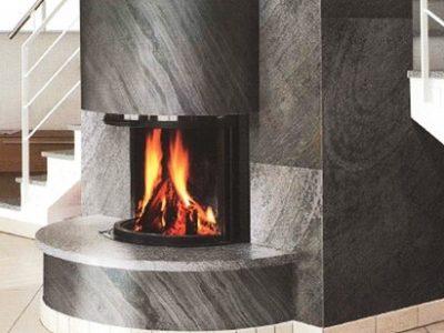 Black Line Fireplace