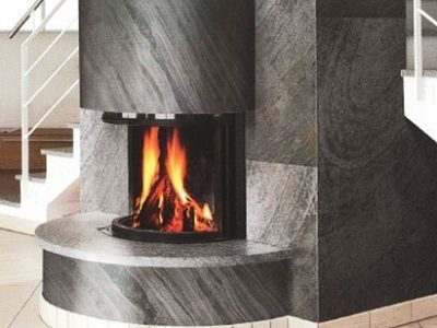 Black Line Fireplace